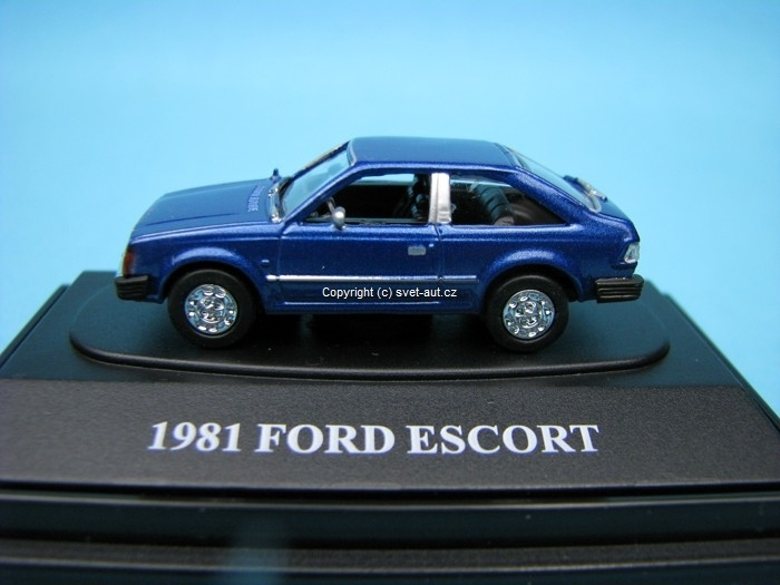 Ford Escort 1981 blue 1:87 Motor Max